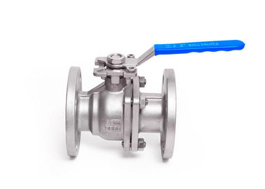China DIN Double Flanged Ball Valve ISO5211 Pad With Handle Or Actuator supplier