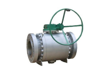China Trunnion Mounted Soft Seated Ball Valve , Blowout Proof Stem Ball Valve supplier