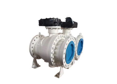 China 3 Piece Trunnion Mounted Ball Valve Soft Seated Convenient Maintenance supplier