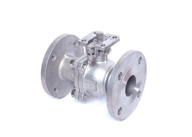 Electric Actuator High Pressure Two Piece Ball Valve Full Port Double Flange Ends