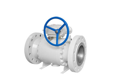 Forged Body Trunnion Mounted Ball Valve Corrosion Resistant With Gear Operated