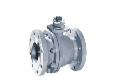 Small Torque 2 Piece Body Ball Valve Floating Type Low Emission Packing