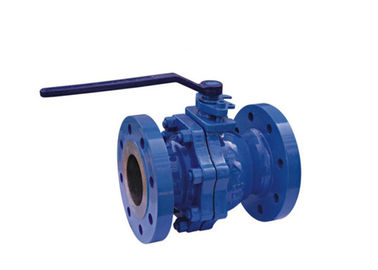 Cast Steel Flanged 2 Piece Body Ball Valve Full Port For Industrial