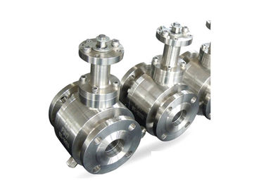 Three Pieces Forged Steel Ball Valves Threaded Connection For Water / Gas / Oil