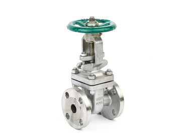 ANSI 150lb Flanged Stainless Steel Gate Valve With Handwheel , Straight Through Type
